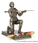 Joan Of Arc Kneeling Pen Holder (With Letter Opener)