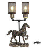 Steampunk Horse Gait Twin Mesh Lamp