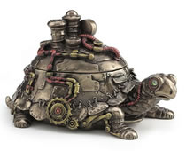 Steampunk Tortoise Trinket Box