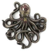 Steampunk Rebreather Octopus Wall Plaque