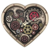 Grand Steampunk Heart Shaped Gear Clock