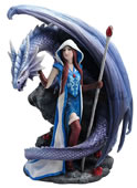 Dragon Mage Statue by Anne Stokes