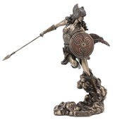 Norse Goddess Valkyrie Wielding Spear And Shield Statue