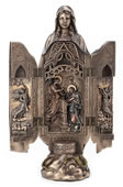 Lady Of Grace Polyptych Sculpture Of Annunciation
