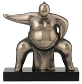 Abstract Squatting Sumo Wrestler Statue
