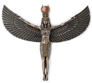 Egyptian Goddess Isis Spreading Wings Wall Plaque