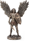 Archangel Saint Michael With Sword And Shield Statue