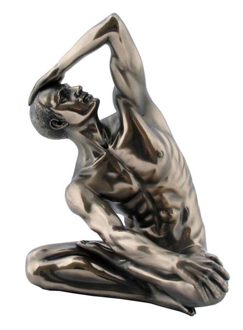 Erotic Bronze Nude Statue - Contortionist - J. Patoue