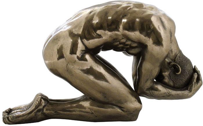 Posture Bronze Male Nude Sculpture, STU-Home, AAWU72467A1