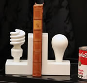 Light Bulb Bookends