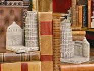 Leaning Tower of Pisa Bookends