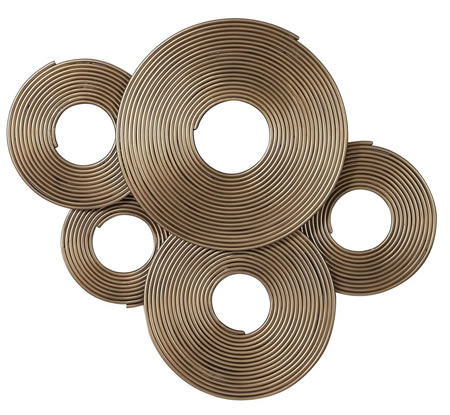Ahmet Gold Rings Modern Wall Decor