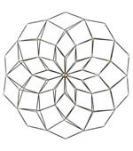 Dorrin Geometric Floral Metal Wall Art