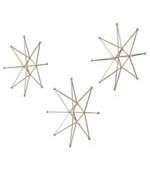 Gold Stars Metal Wall Art, Set of 3