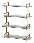 Auley Gold Wall Shelf