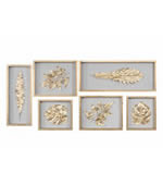 Golden Leaves Shadow Box, Set of 6