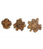 Kalani Teak Wall Art, Set of 3