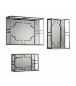 Adoria Silver Wall Shelves, Set of 3