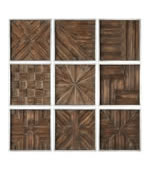 Bryndle Rustic Wooden Squares, Set of 9