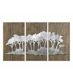 Safari Views Silver Wall Art, Set of 3
