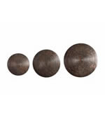 Hanneli Ribbed Bronze Circles, Set of 3
