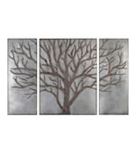 Winter View Rustic Tree Wall Art, Set of 3