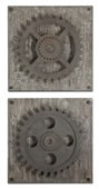 Rustic Gears Wall Art, Set of 2