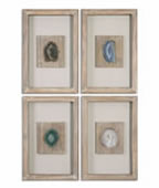 Agate Stone Wall Art, Set of 4