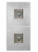 Abalone Shells Silver Wall Art, Set of 2