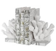Charbel White Coral Bookends, Set/2