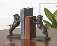 Bulldog Bookends, Set of 2