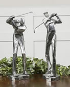 Practice Shot Golfers Statues, Set of 2