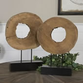 Ashlea Mango Wood Sculptures, Set of 2