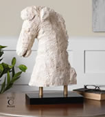 Coral Horse Bust/Statue