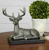 Eight Pointer Buck Deer Statue