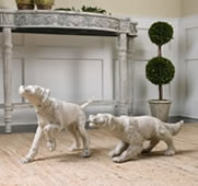 Hudson And Penny Dog Sculptures, Set of 2