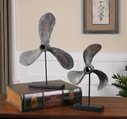 Boat Propeller Sculptures, Set of 2