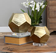 Pentagon Cubes, Set of 2