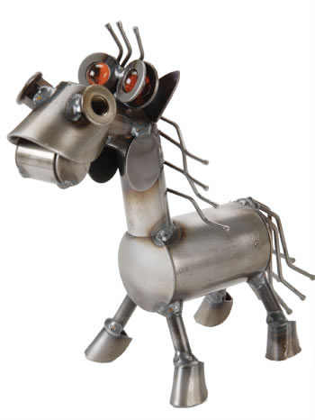 Metal Pony Sculpture