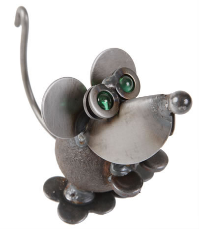 House Mouse Metal Sculpture