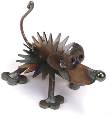 Hedgehog Metal Sculpture
