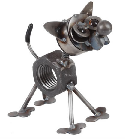 Chubby Nut Metal Chihuahua Statue