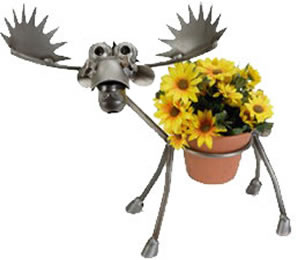 Moose Flower Pot Holder