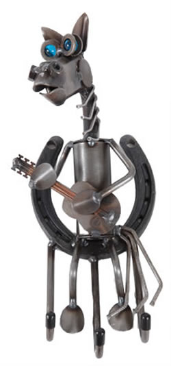 Horse with Guitar Key Holder