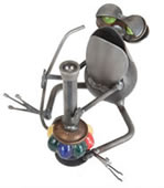 Frog with Hookah Pipe Sculpture