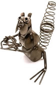 Metal Squirrel Sculpture