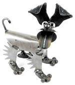 Happy Puppy- Metal Dog Sculpture
