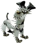 Metal Yorkshire Terrier Sculpture