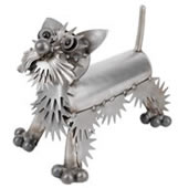 Metal Westie Dog Sculpture