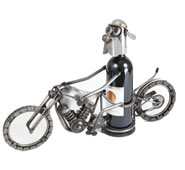 Dog on Motorcycle Wine Holder